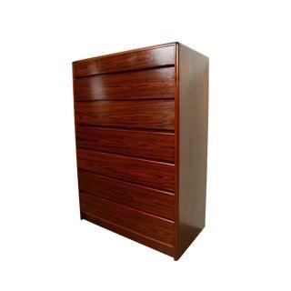Danish Modern Nordisk Rosewood Gentleman's Chest Tall Dresser For Sale