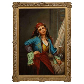 "Oregon Wilson ""Gypsy Dancer"" Orientalist Oil Painting For Sale"