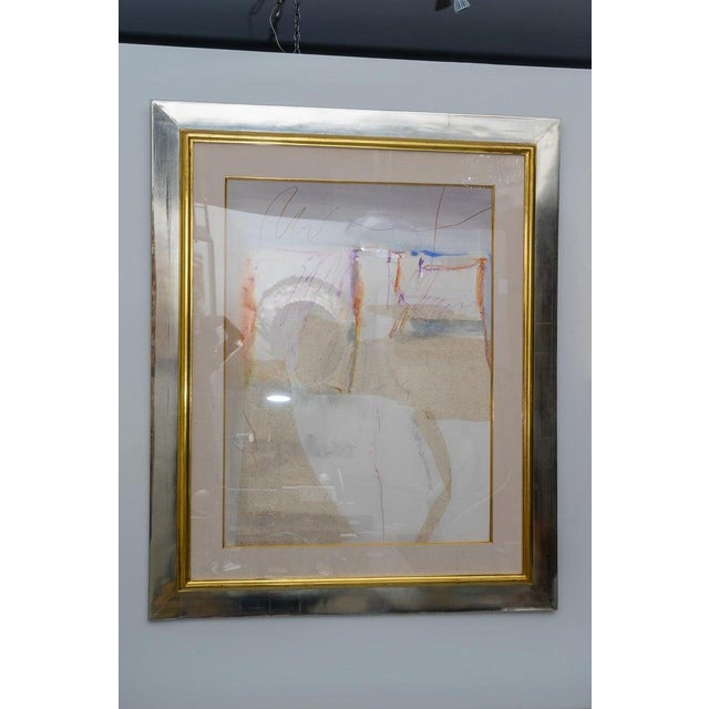 Abstract Mixed Media Painting by American Artist Harold Larsen For Sale - Image 11 of 13