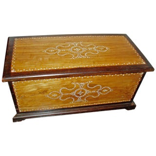 Mother of Pearl Inlaid Trunk From Indonesia, Early 20th Century For Sale