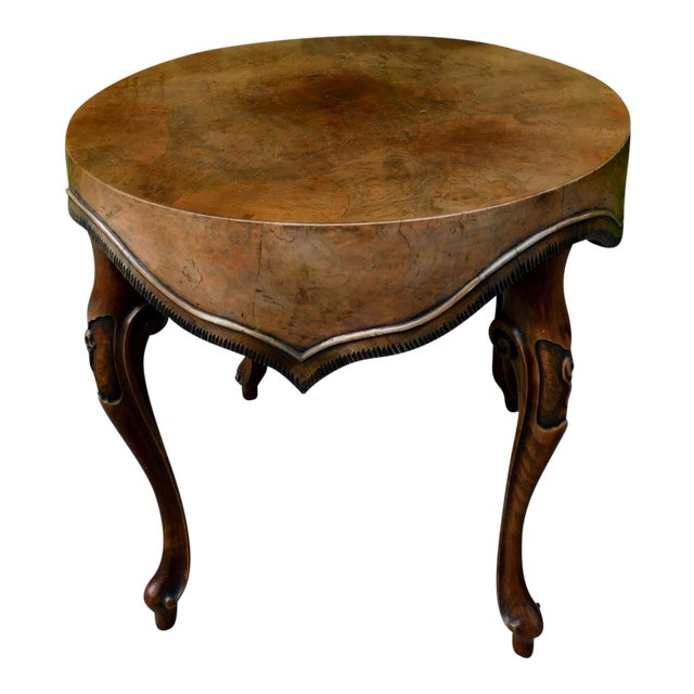 Italian Wood Side Table For Sale