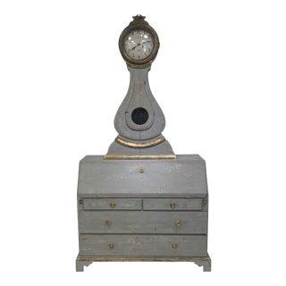 19th Swedish Clock Desk For Sale
