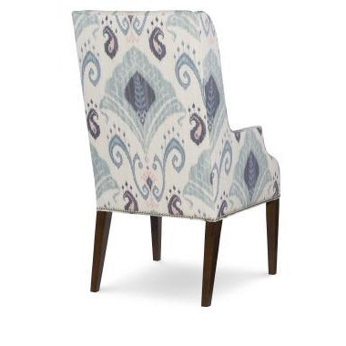 The Kinsley Chair is a first quality market sample that features a Feathersofte Seat Cushion and a Brushed Nickel Nail...