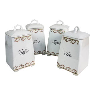 Victoria Czechoslovakia China Canisters - Set of 4 For Sale
