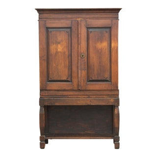 Charming Swedish Country Pine Bookcase For Sale