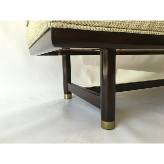 Mid-Century Modern Tufted Walnut Bench - Image 5 of 10