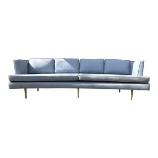 1950s Vintage Edward Wormley for Dunbar Curved Front 490a Even Arm Sofa For Sale