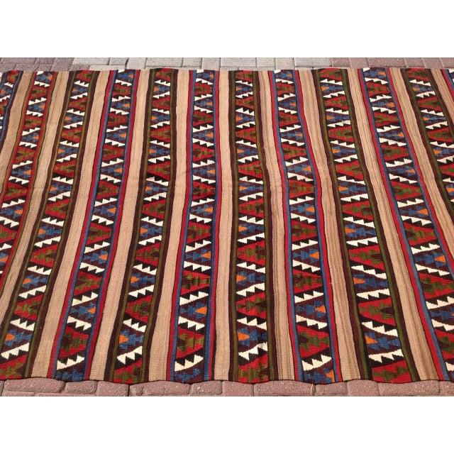 """Vintage Turkish Kilim Rug - 5'5"""" X 8'1"""" - Image 4 of 6"""