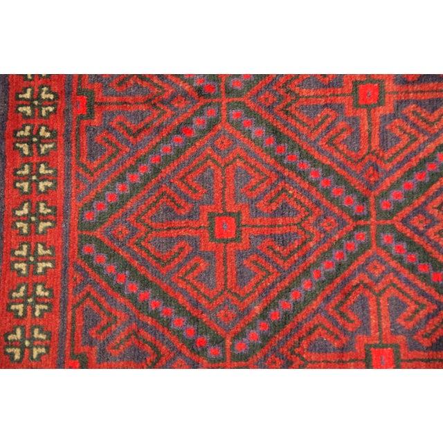 Vintage Persian Baluchi Carpet - 2′10″ × 4′4 - Image 3 of 3