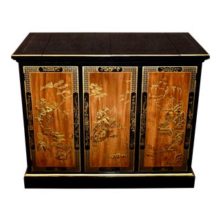 Vintage Drexel Asian Style Flip Top Server/Bar For Sale