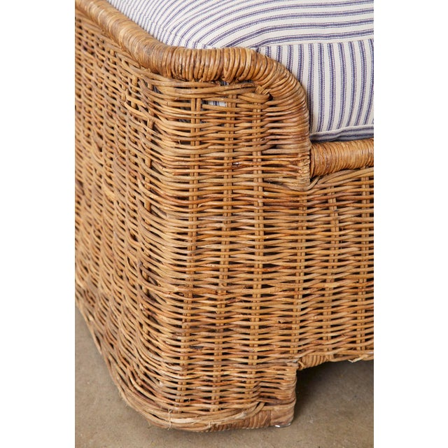 Wicker Organic Modern Style Wicker Daybed or Chaise Lounge For Sale - Image 7 of 13