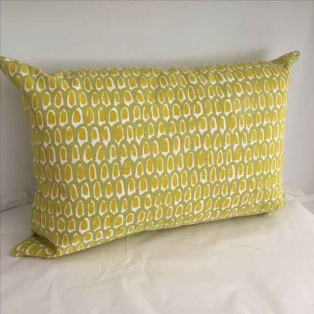 Green and Yellow Cotton Canvas Pillow - Image 2 of 6