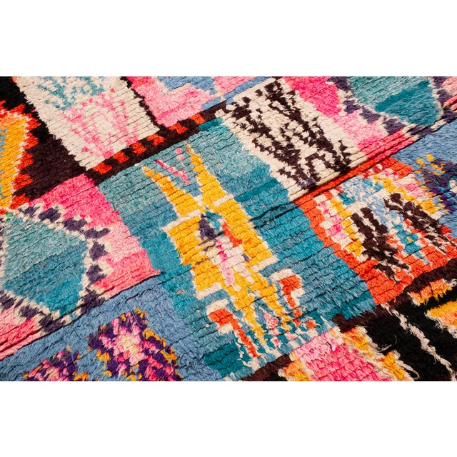 2010s Contemporary Moroccan Geometric Wool Rug - 4′6″ × 6′ For Sale - Image 5 of 6