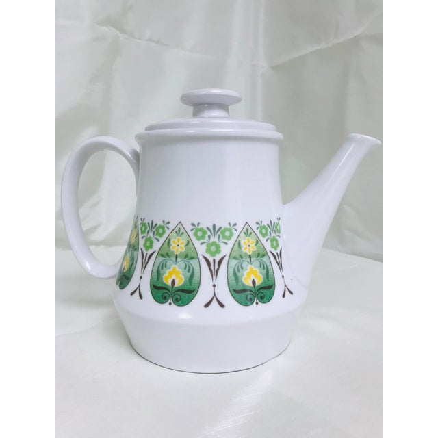 Mid-Century Modern Vintage Noritake Progression Palos Verde Teapot For Sale - Image 3 of 9