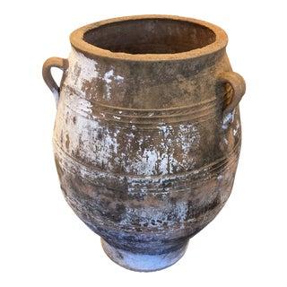 Large Olive Clay Jar