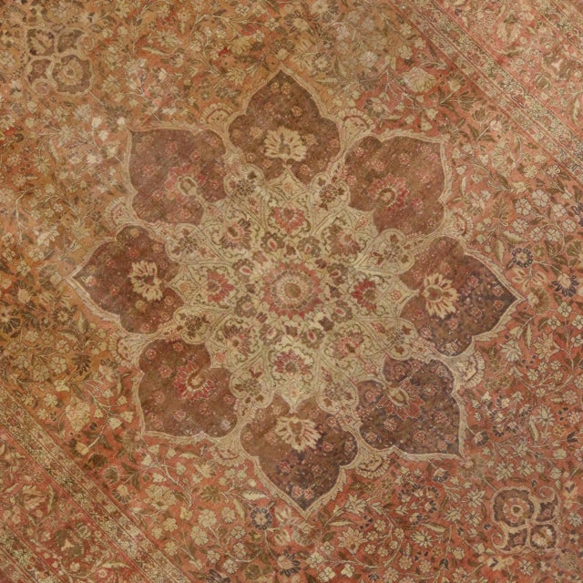 Art Nouveau Haji Khalili Antique Persian Tabriz Rug with Art Nouveau Style in Gallery Size For Sale - Image 3 of 8