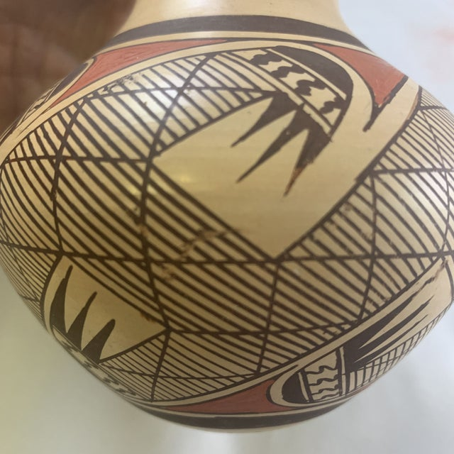 Southwest Clinton Polacca Hopi Polychrome Seed Jar With Migration Pattern For Sale In Denver - Image 6 of 13