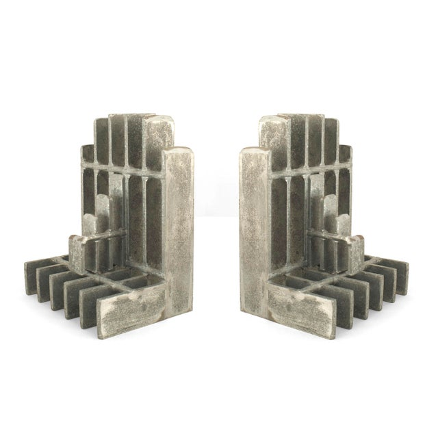 Mid 20th Century Pair of Mid-Century American Brutalist Style Bookends For Sale - Image 5 of 5