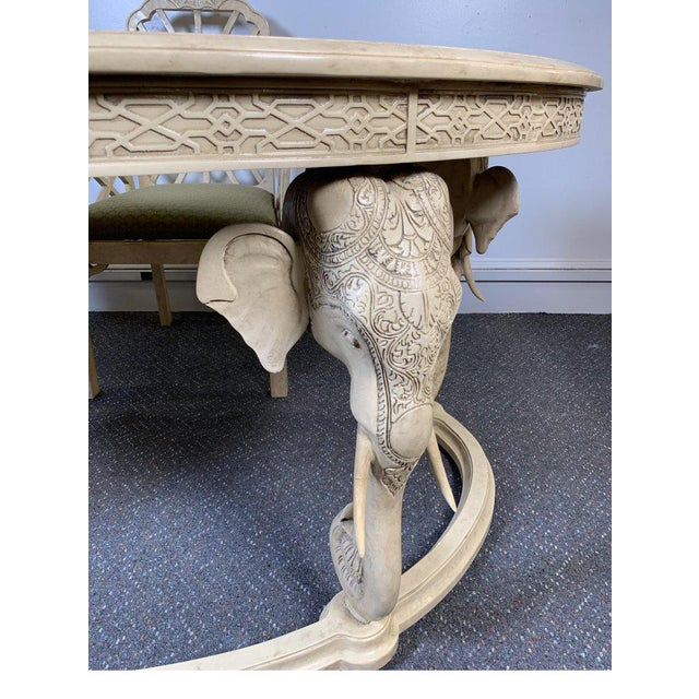 1970s Hollywood Regency Gampel Stoll Kidney Elephant Desk With Chair - 2 Pieces For Sale - Image 12 of 13
