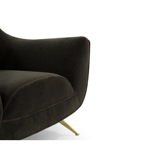 Henry Glass Lounge Chairs in Mohair - a Pair For Sale - Image 9 of 13