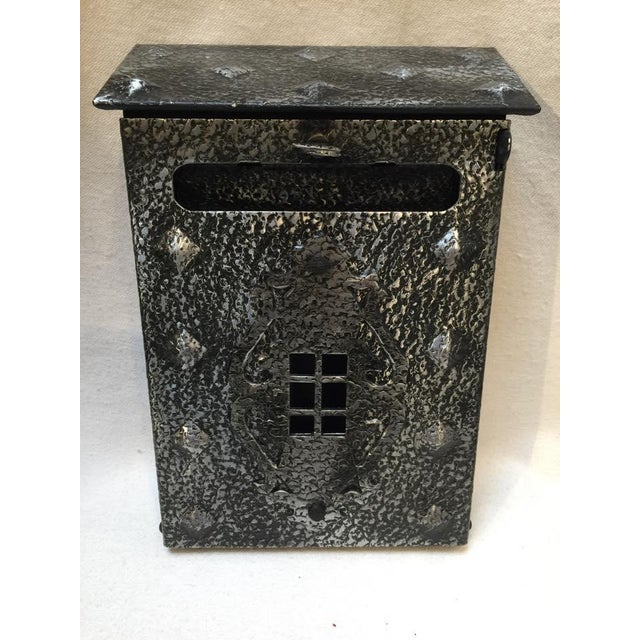 Industrial New Tudor Black/Pewter Metal Mailbox For Sale - Image 3 of 8