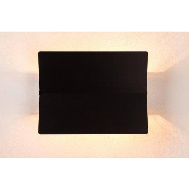 Large Charlotte Perriand 'Applique à Volet Pivotant Plié' Wall Light in Black For Sale In Los Angeles - Image 6 of 8