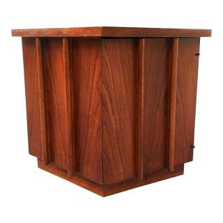 1950s Mid Century Modern Lane Hexagonal Side Table For Sale