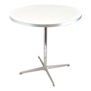 1990s Mid-Century Modern Piet Hein, Arne Jacobsen for Fritz Hansen White Dining Table For Sale