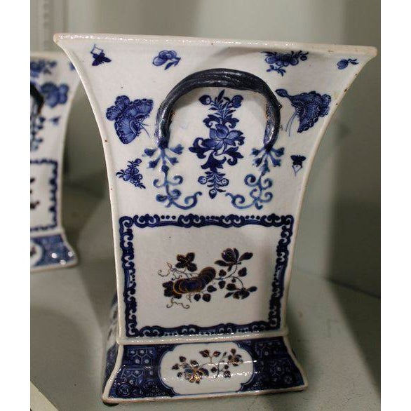 Late 18th Century Chinese Export Bough Pots - A Pair - Image 7 of 9