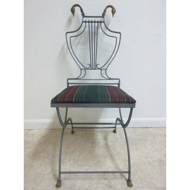 Vintage Lyre Harp Regency Side Chair For Sale - Image 11 of 11