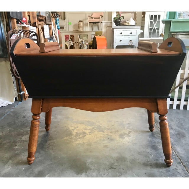 Late 19th Century Antique Primitive Blue / Nutmeg Stain Doughbox Table For Sale - Image 5 of 5