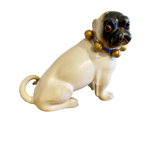 Figurative Standing German Pug With Bell Collar For Sale - Image 9 of 9