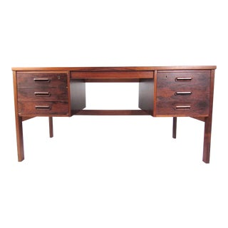 Vintage Modern Rosewood Writing Desk For Sale