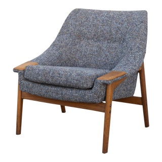 1960s Vintage Danish Modern Folke Ohlsson Armchair For Sale