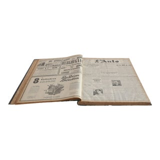 Bound Editions of L'Auto Newspaper, France, 1913 For Sale