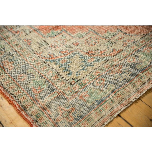 "Cotton Vintage Distressed Oushak Carpet - 5'11"" X 8'10"" For Sale - Image 7 of 13"