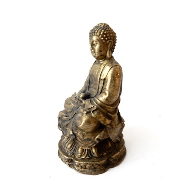 Brass Meditating Serenity Calming Buddha - Image 4 of 7