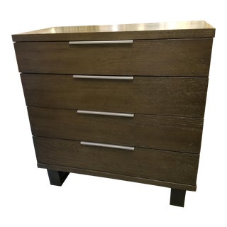 Dark Stained Oak Wood Chest of Drawers