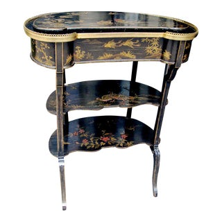 19th Century English Side Table With Painted Chinoiserie Decoration For Sale