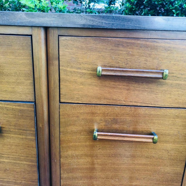 Mid-Century Modern Custom Made Filing Cabinet/Credenza For Sale - Image 10 of 11