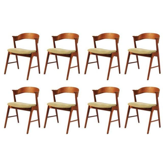 1960s Vintage Danish Teak Model 32 Dining Chairs - Set of 8 For Sale - Image 9 of 9