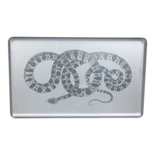 Anodized Aluminum Snake Tray by Eduardo Garza for Formentero For Sale