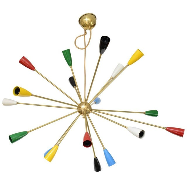 Sputnik Chandelier with 18 Shades - Image 2 of 8