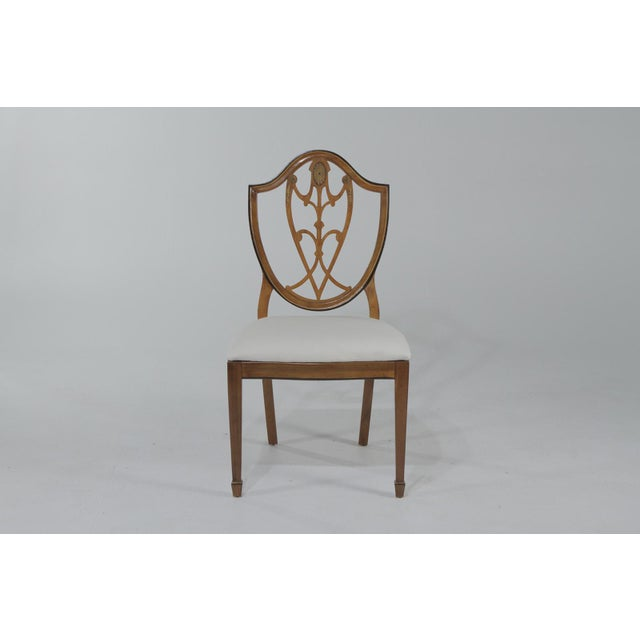 Mahogany 1950s Vintage Shield Back Mahogany Dining Chairs- Set of 6 For Sale - Image 7 of 13