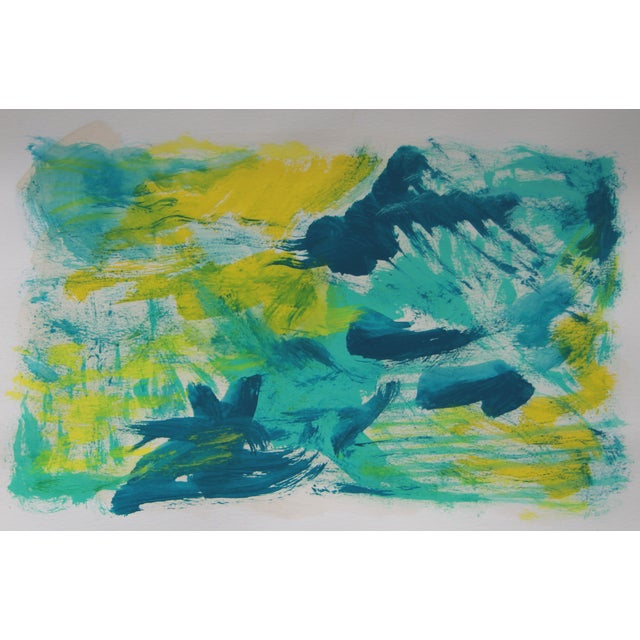 Blue Avenue Abstract Painting by Cleo - Image 1 of 2