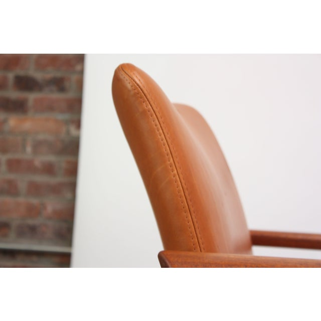 Pair of Finn Juhl Diplomat Armchairs for France & Son in Leather and Teak For Sale - Image 9 of 13