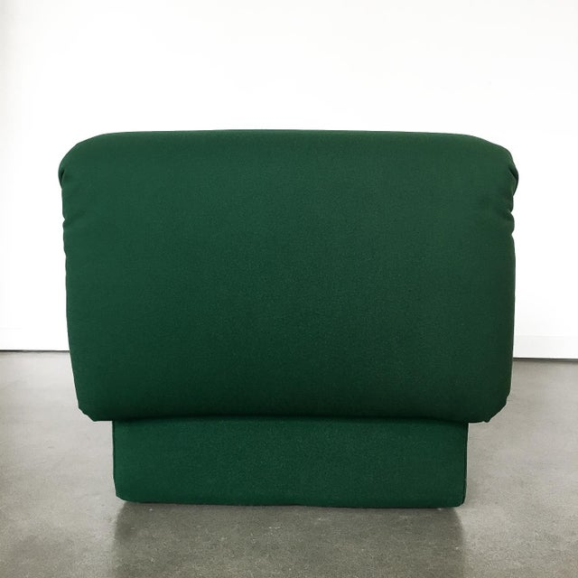 Green Pair of Italian Fully Upholstered Modernist Chaise Longues For Sale - Image 8 of 13