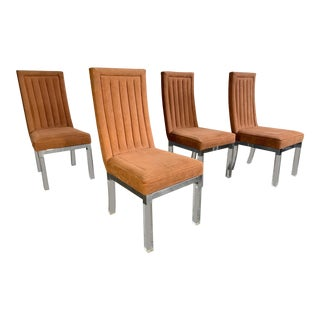 Set of 4 Upholstered Dining Chairs by Charles Hollis Jones For Sale