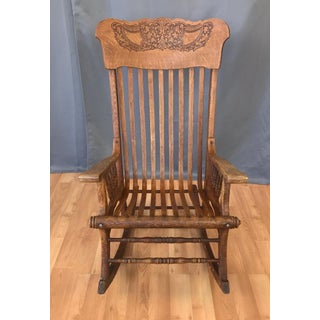 Unusual 20th Century Oak Rocking Chair Preview
