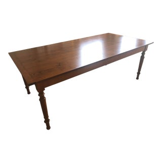 Leonards Tiger Maple Wood Dining Room Table For Sale